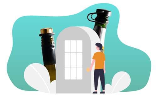 Indoor wine service